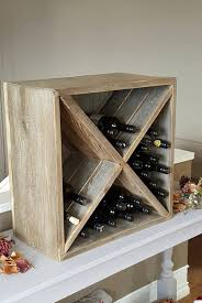 this reclaimed wood wine box is made from real canadian weathered