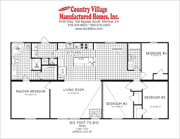 4 bedroom double wide floor plans double wide floorplans u2013 don killins country village manufactured