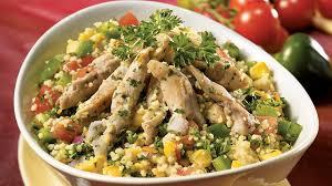 recette cuisine couscous salade tiède de poulet et couscous à la mexicaine recettes iga