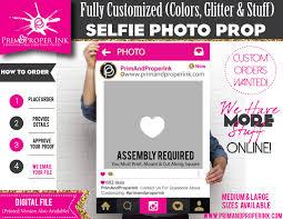 Digital Photo Booth Digital File Custom Selfie Photo Booth Prop Frame Photo Prop