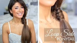 Simple And Cute Hairstyle by Loop Side Ponytail Cute Hairstyle Youtube
