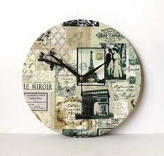 etsy vintage home decor popular items for french clock on etsy paris wall decoupage fabric