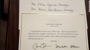wedding wishes reply barack obama still responds to strangers wedding invitations