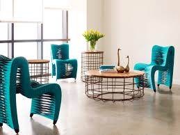 Home Decor Furniture Our Seat Belt Chairs Featured With Our Cage Side Tables Seatbelt