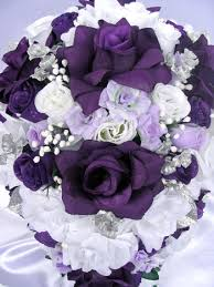 purple and silver wedding and silver wedding flowers