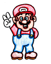 draw peace mario 10 steps