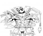 Coloriage Deadpool Sniper Precision dessin