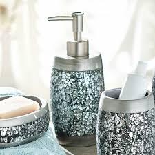 Beautiful Bathroom Accessories Uk Silver Crackle Glass Bathroom Accessories How To Use Crackle