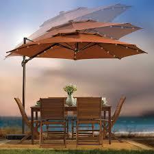 Amazon Com Outdoor Patio Furniture - 11 foot patio umbrella home outdoor decoration