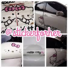 u003d stickerforher u003d cute u0026 girly car stickers hellokitty