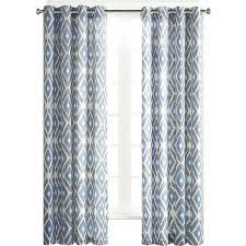 gray geometric curtains diamond printed grommet top curtain panel