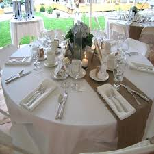 how to make burlap table runners for round tables circle table runner round burlap table runner wedding fuller table