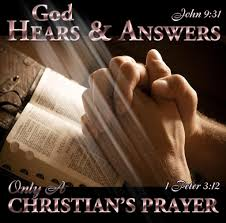 god only hears a christians prayer god answers prayers