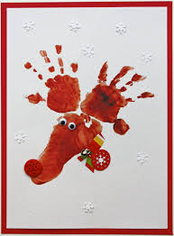 hand u0026 footprint reindeer cards