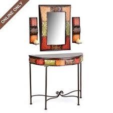 console table and mirror set albuquerque spice console table mirror sconce set by kirklands