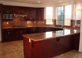 Best Wood Stain For Kitchen Cabinets by Mahogany Wood Classic Blue Shaker Door Best Quality Kitchen
