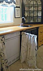 Kitchen Pantry Curtains Cute Idea Curtain Rod Instead Of Cabinet Door Would Wrk On
