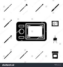 digital drawing website digital drawing board icon set elements stock vector 789411010