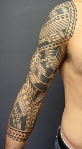 tribal maori half sleeve tattoo for men photo 12 real photo