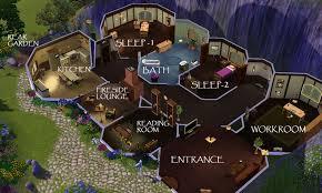 chic ideas hobbit floor plans 12 home design home act