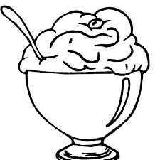 delicious ice cream with cherry on top coloring pages bulk color