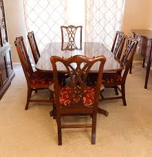 Thomasville Cherry Dining Room Set by Thomasville Chippendale Style Dining Table With Six Chairs Ebth
