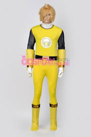 Power Ranger Halloween Costume Power Rangers Ninja Storm Yellow Wind Ranger Cosplay Costume