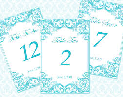 wedding table number template eliolera com