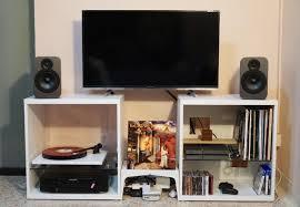 small apartment setup vinyl