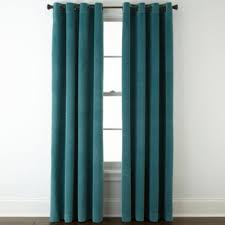 Teal Curtain Studio Athens Velvet Grommet Top Curtain Panel Jcpenney