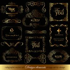 luxurious golden ornaments elements 01 vector frames borders