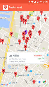 map of restaurants near me restaurant finder android apps on play