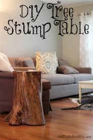 how to make a tree stump table tree stump table diy