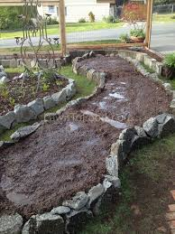 Raised Rock Garden by Small Scale Garden Swale Lawn To Food