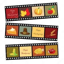 happy thanksgiving food happy thanksgiving film strip u2014 stock vector rixipix 11325755
