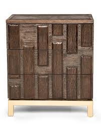 truffle textured wood nightstand
