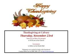 nov 23 thanksgiving worship luncheon at calvary church