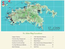 road map of st usvi driving map of st in the u s islands travel