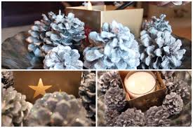 diy christmas centerpiece chrome and glitter pinecones pictures