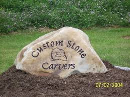 personalized garden stones collier company