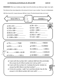 multiply and divide by 10 100 and 1000 by gillman19 teaching