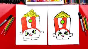 how to draw poppy corn shopkins art for kids hub