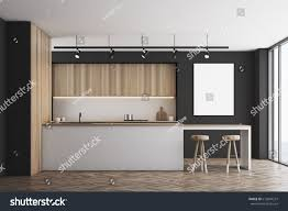 front view black kitchen bar light stock illustration 613844237