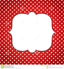 Red Invitation Cards Minnie Red Frame Polka Dots Invitation Card Stock Illustration