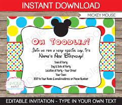 mickey mouse printable birthday invitations u2013 gangcraft net