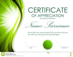 certificate of appreciation template stock vector image 82040362
