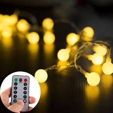 remote control christmas lights globe string lights 5m 50leds with remote control battery operated
