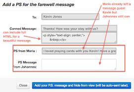 guest farewell messages on hostelsnap
