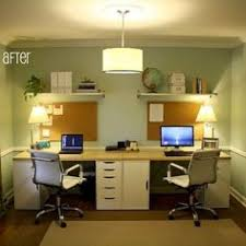 Ikea Home Office Design Ideas Captivating Modern Home Office For Two Ideas With Black Wood Table