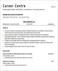Sample Tax Accountant Resume by 26 Accountant Resume Format